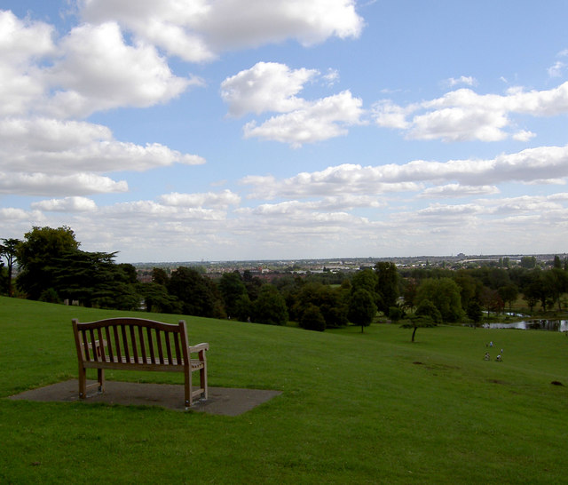 The lonely bench. - geograph.org.uk - 536058