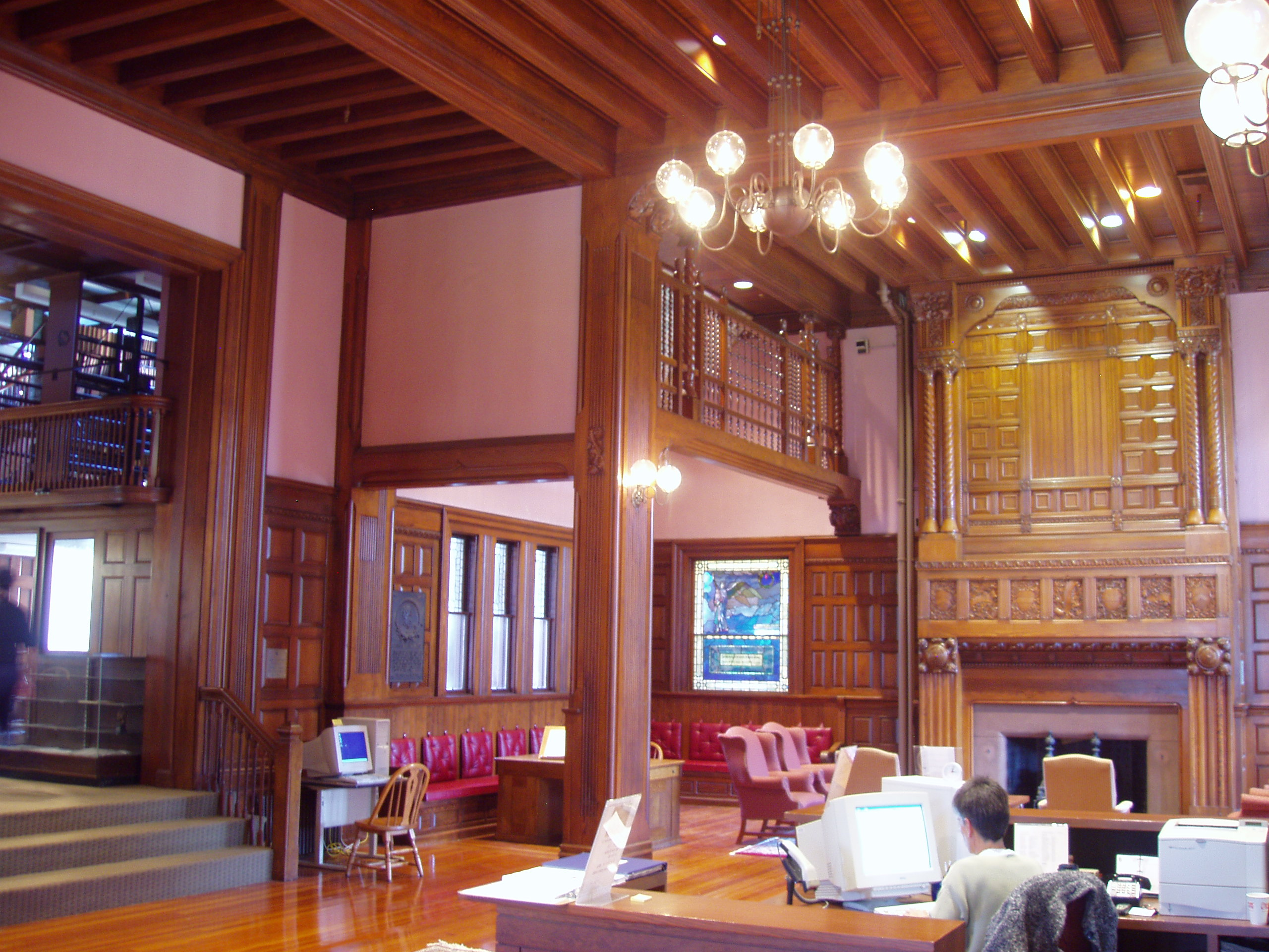 FileThomas Crane Public Library Quincy Massachusetts Interior FireplaceJPG