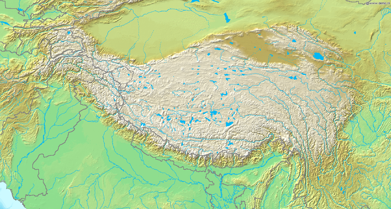 tibetan plateau The tibetan plateau area is the coldest area in the same latitude, because of its altitude, and the low air pressure the altitude brings from the knowledge we learnt, the temperature decrease about 6 centigrade for every 1000 meters rise in altitude.