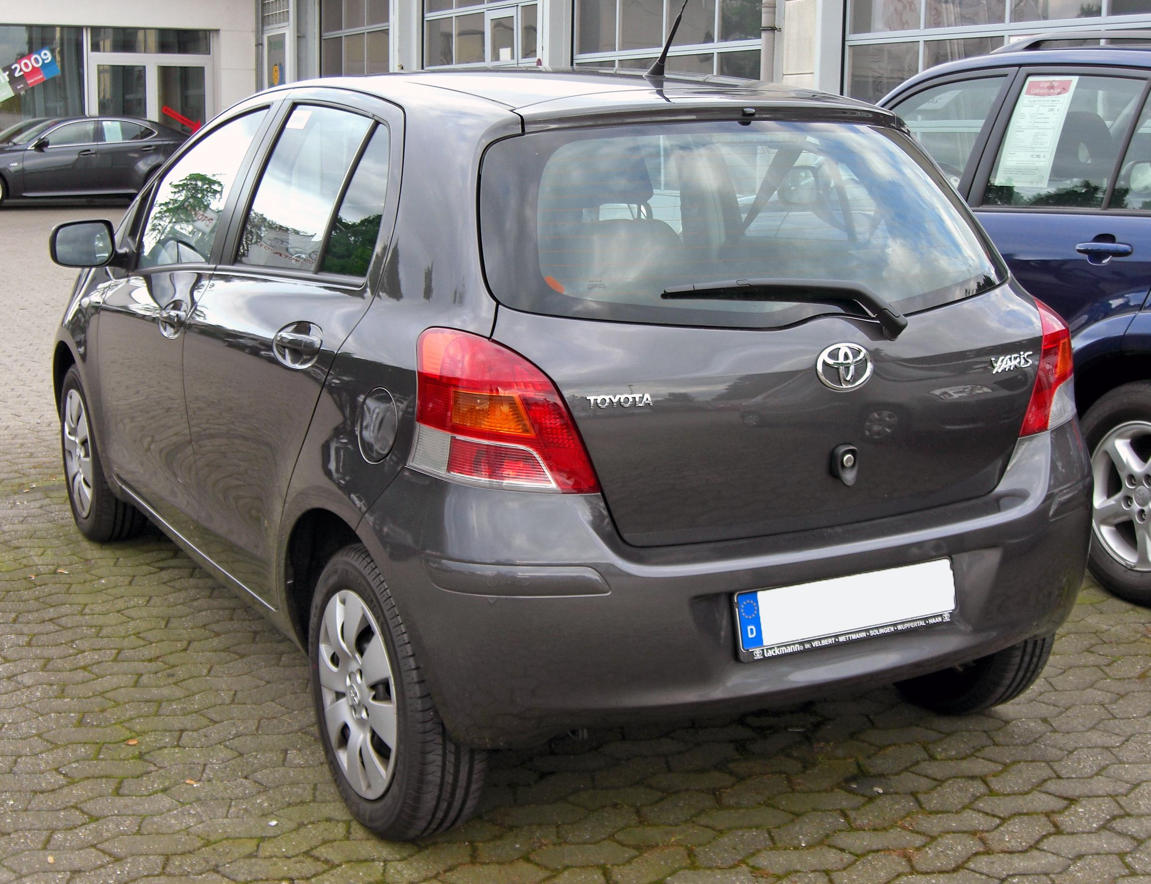 file toyota yaris ii facelift 20090517 rear jpg wikimedia commons. Black Bedroom Furniture Sets. Home Design Ideas