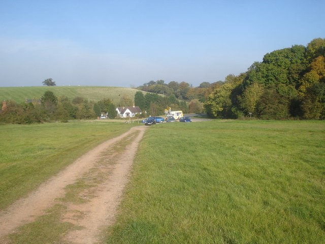 Track from the car park on the Old Hills - geograph.org.uk - 1131868