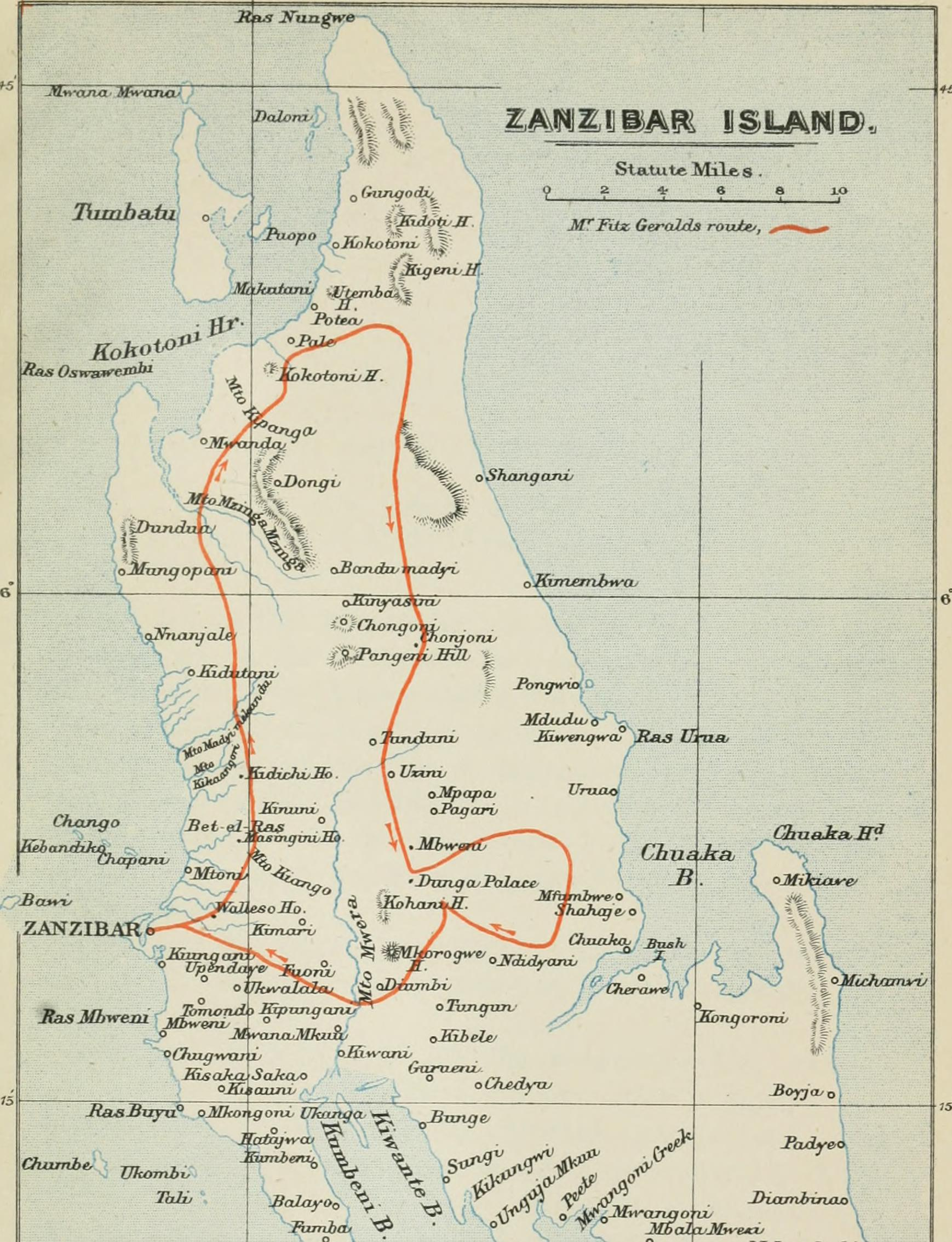 file travels in the coastlands of british east africa and the