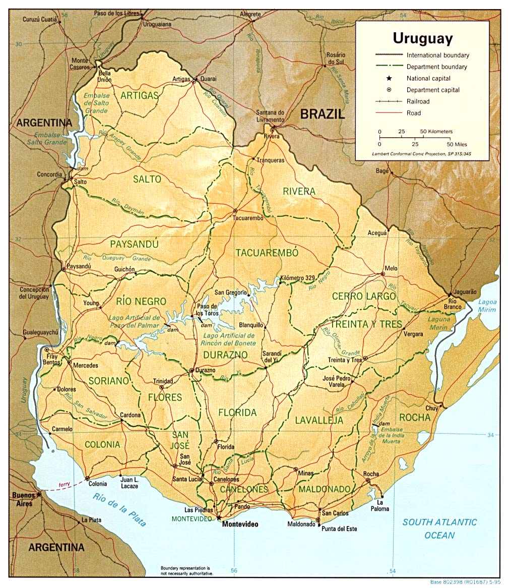 Tourism in Uruguay Wikipedia – Uruguay Tourist Attractions Map