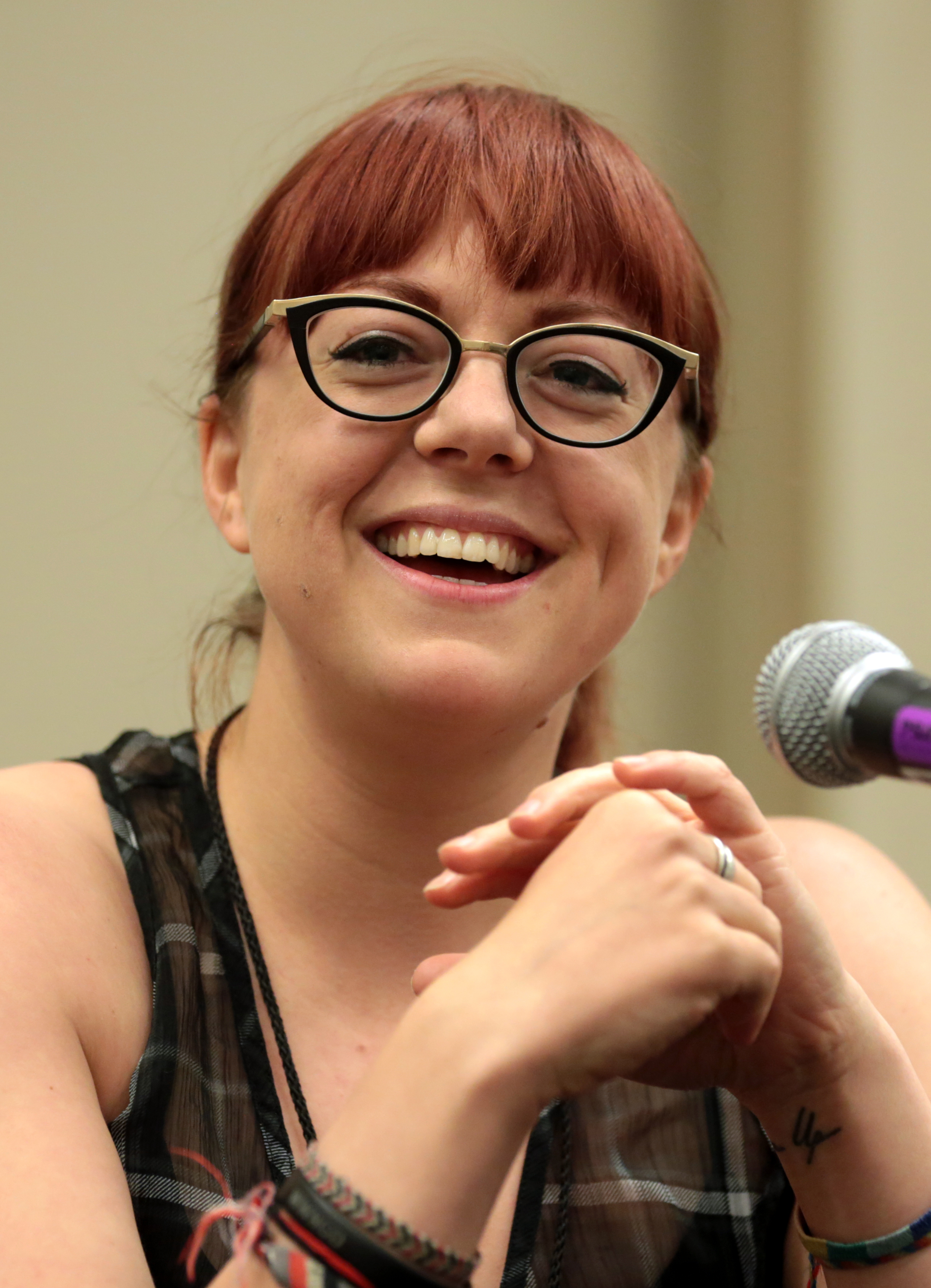 Schwab at the 2018 [[Phoenix Comic Fest