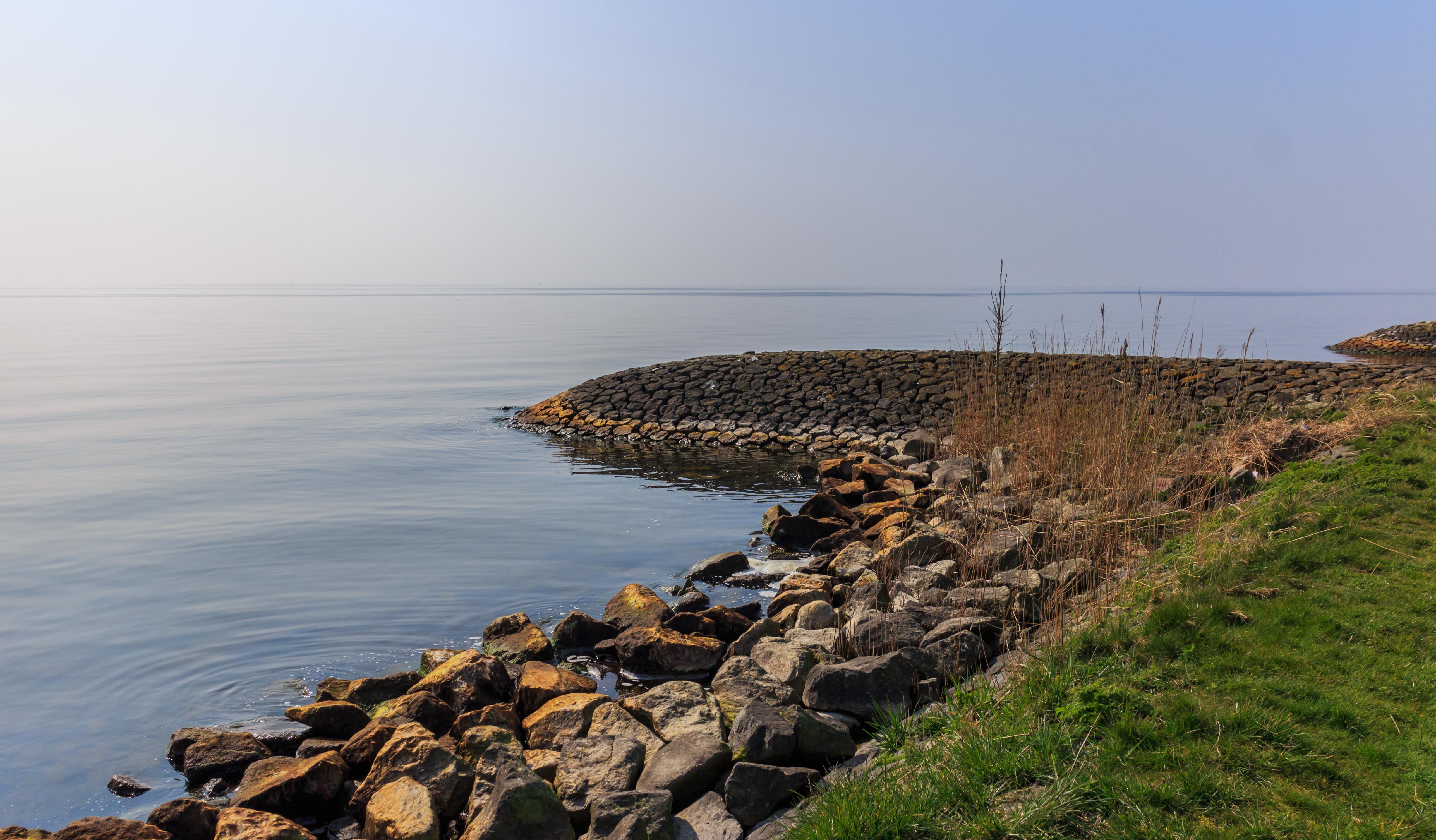 A reinforced embankment