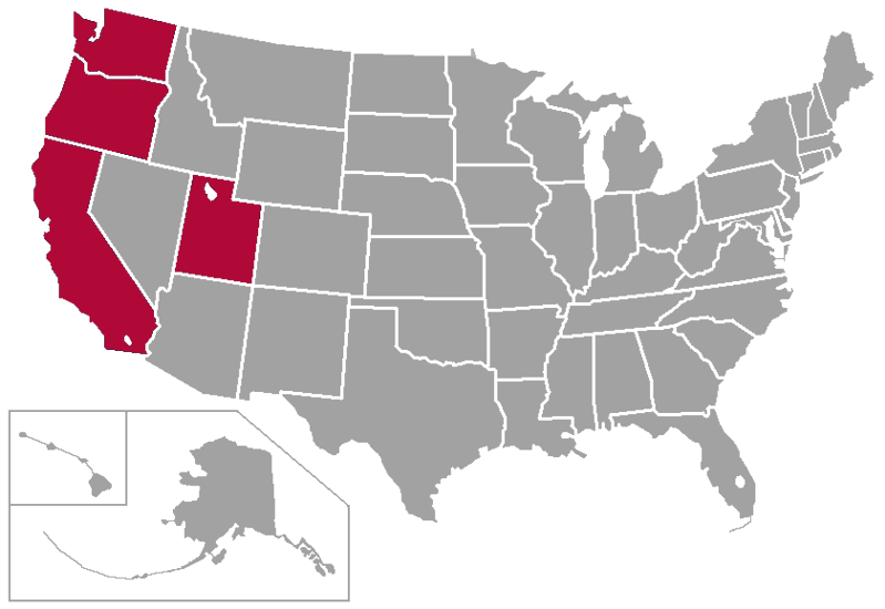 File:WCC West Coast Conference Map.PNG - Wikimedia Commons