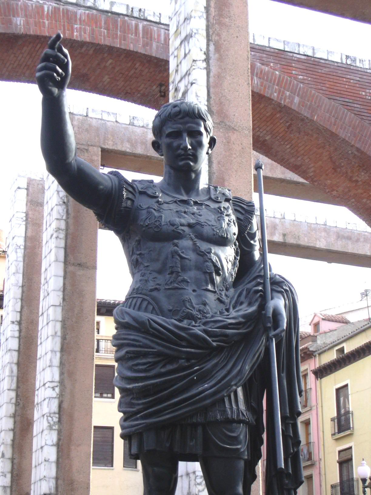 File Zaragoza Estatua Del Emperador Augusto Jpg Wikimedia Commons