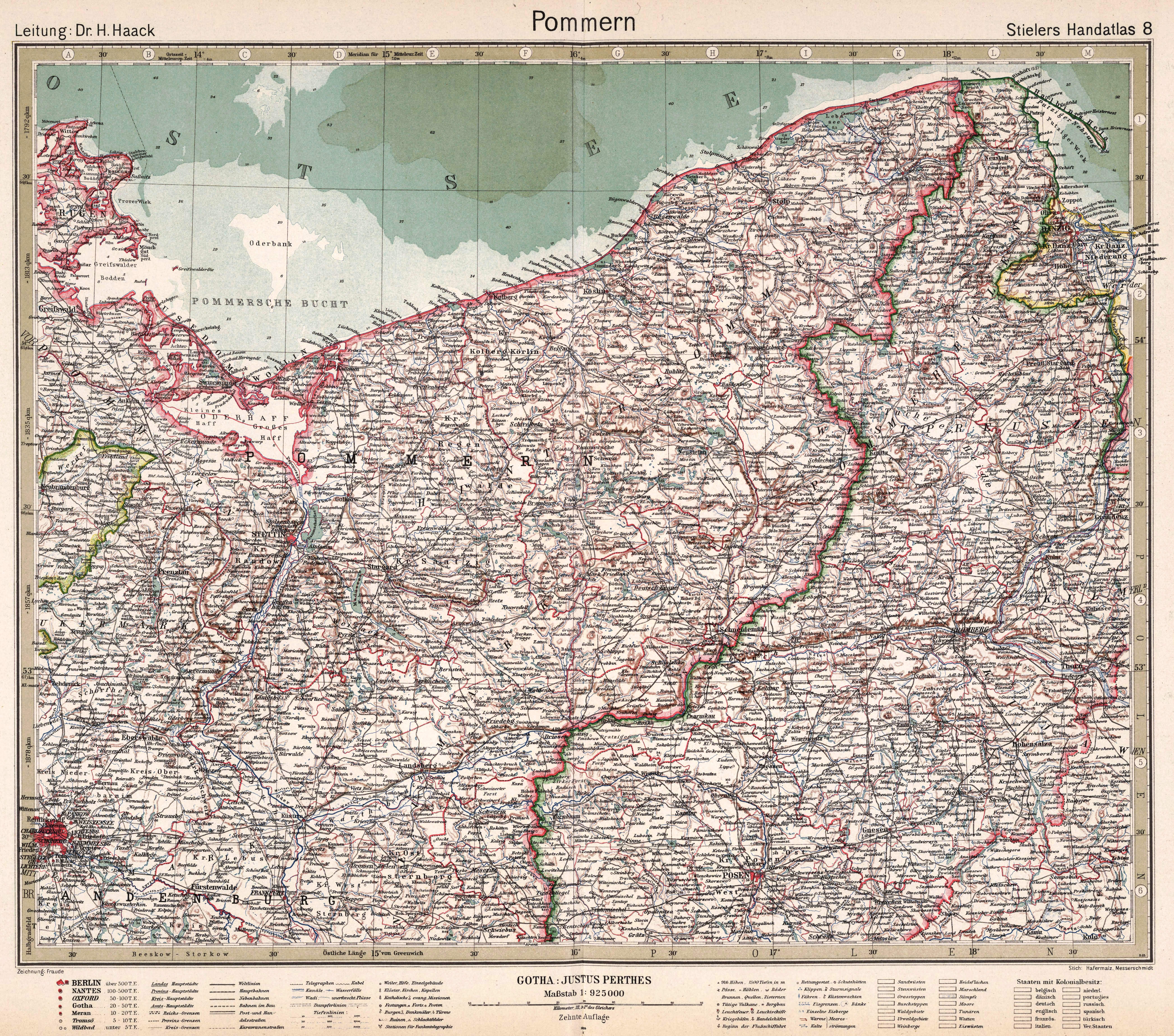 File Stielers Handatlas 1925 Map 8 Germany 1919 1937 Pommern