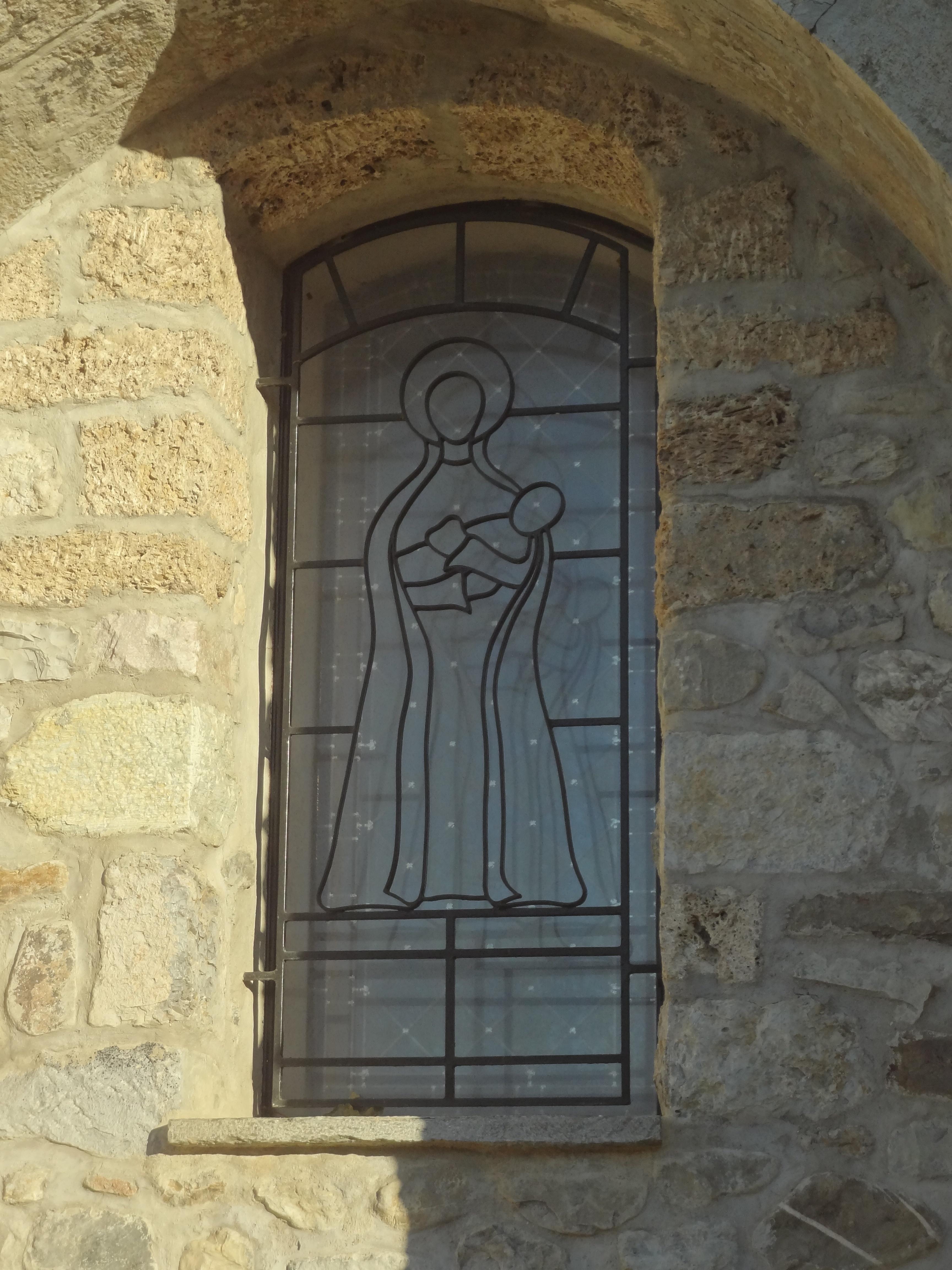 Fileéglise Saint Pierre De Claret Grille Du Vitrail De La