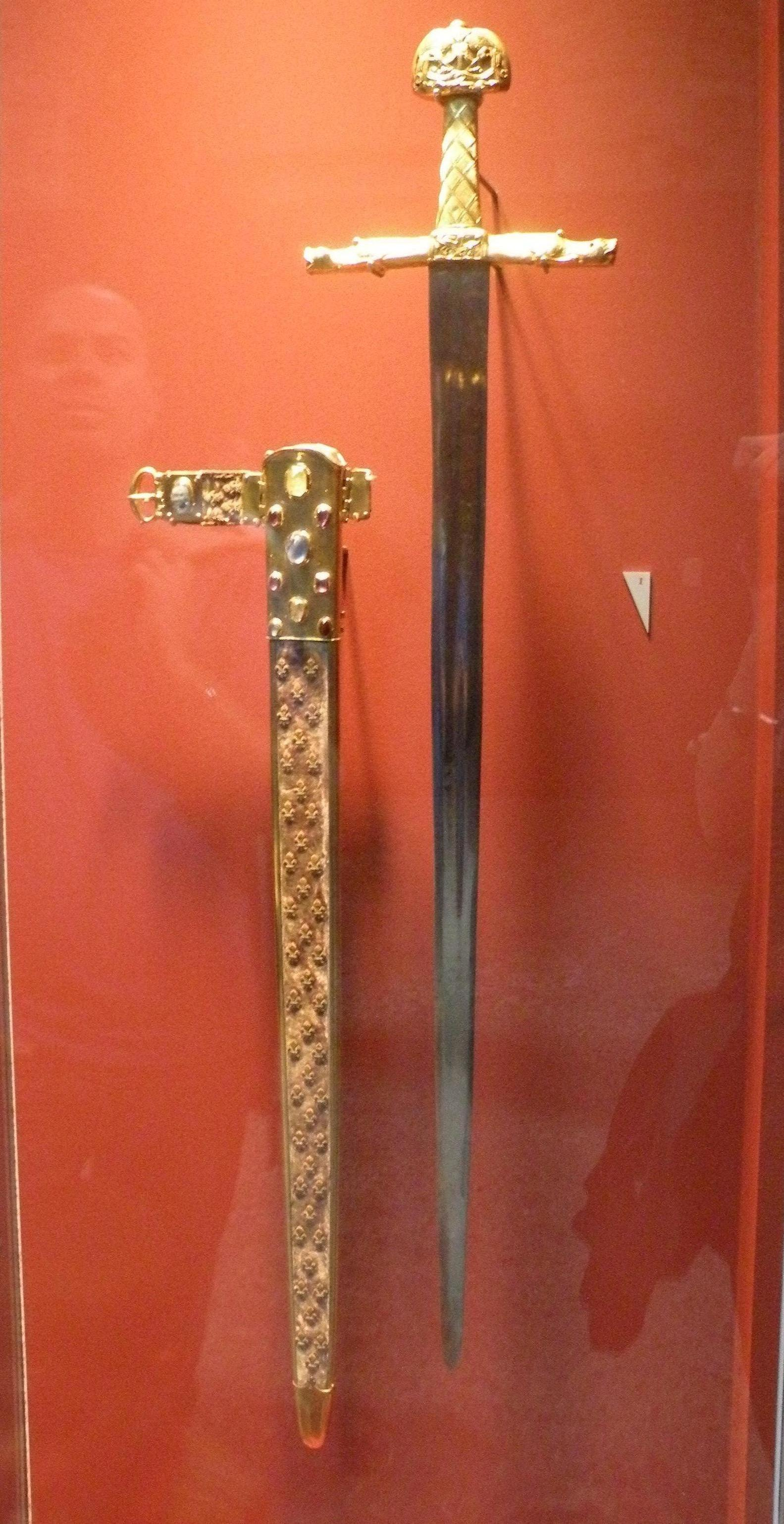 The coronation sword of the French kings, Joyeuse. Modified repeatedly ...