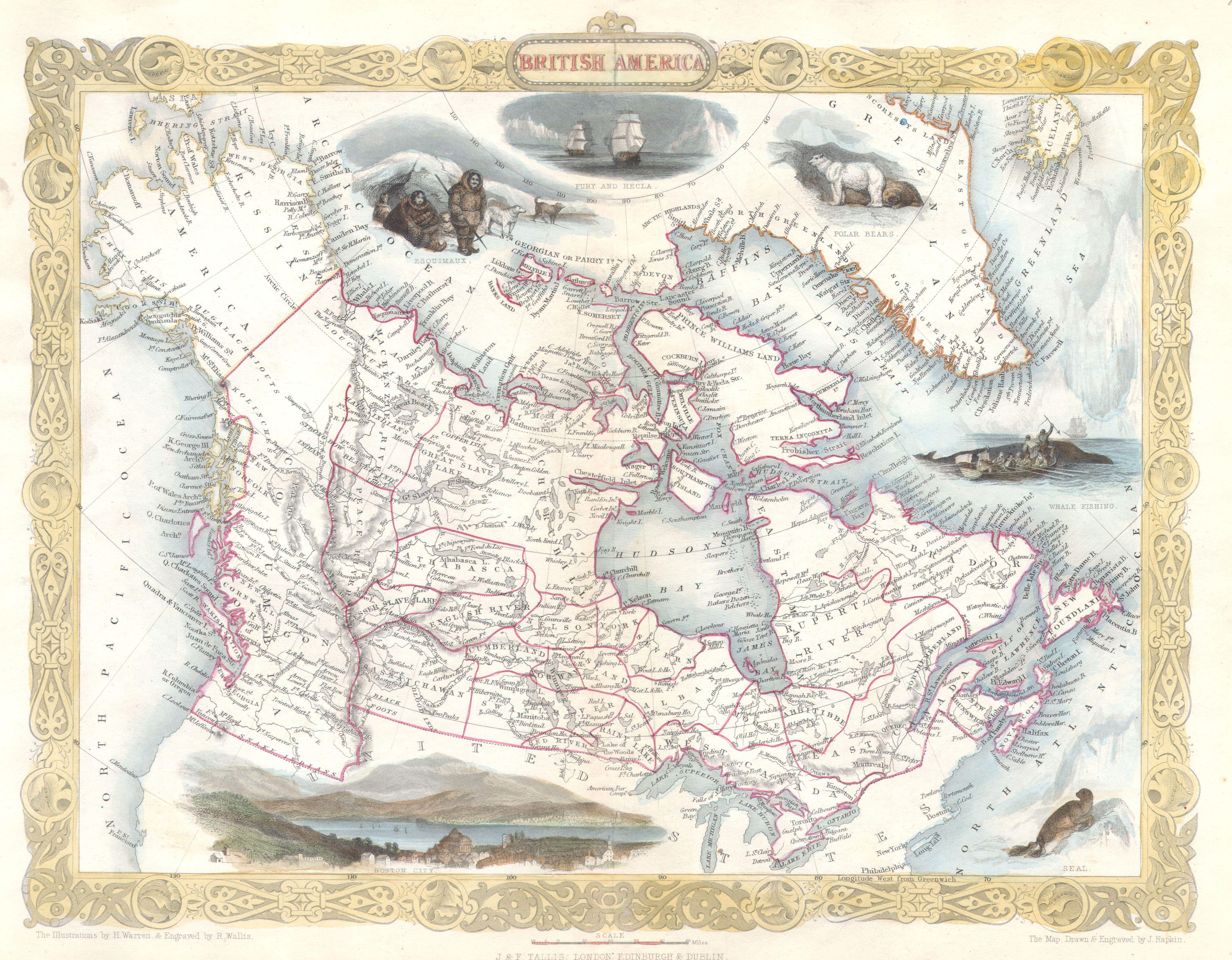 Map Of America Oregon.File 1849 Tallis Map Of Canada Or British America W Oregon