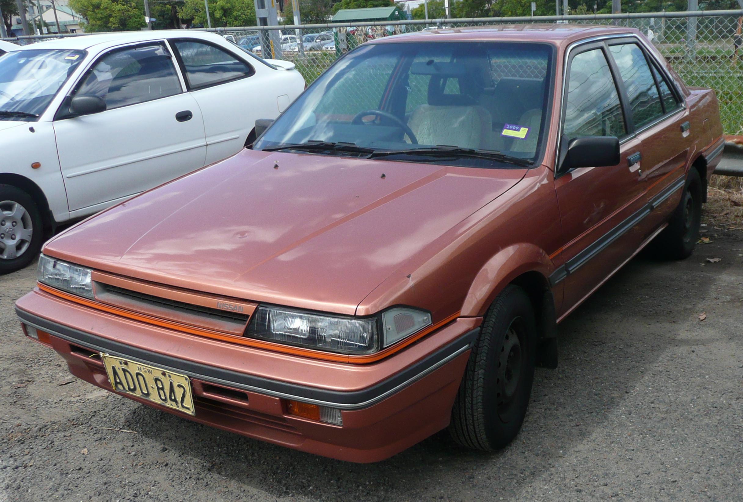 File 1987 1989 Nissan Pulsar N13 Vector Gxe Sedan 01 Jpg