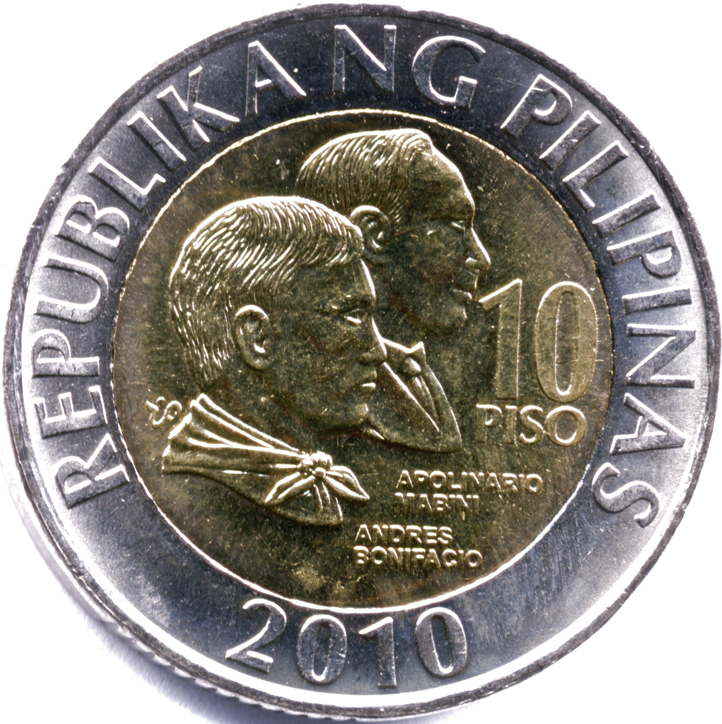 who is on the 10 peso coin