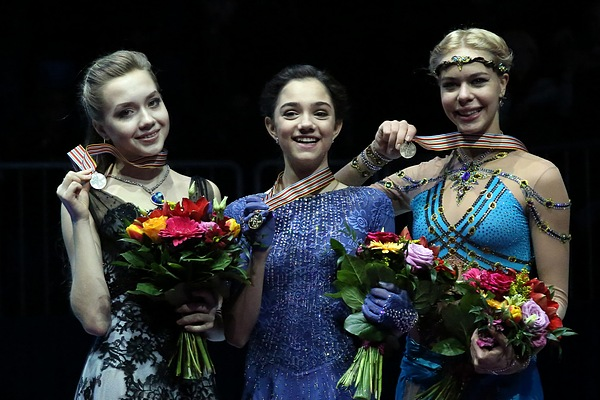 Evgenia Medvedeva had achieved a free program score of 150 points or higher seven times, including a score above 160 points once. Seven out of the fourteen best free program scores had been scored by Medvedeva. She was the only lady who had ever scored above 160 points in free program.