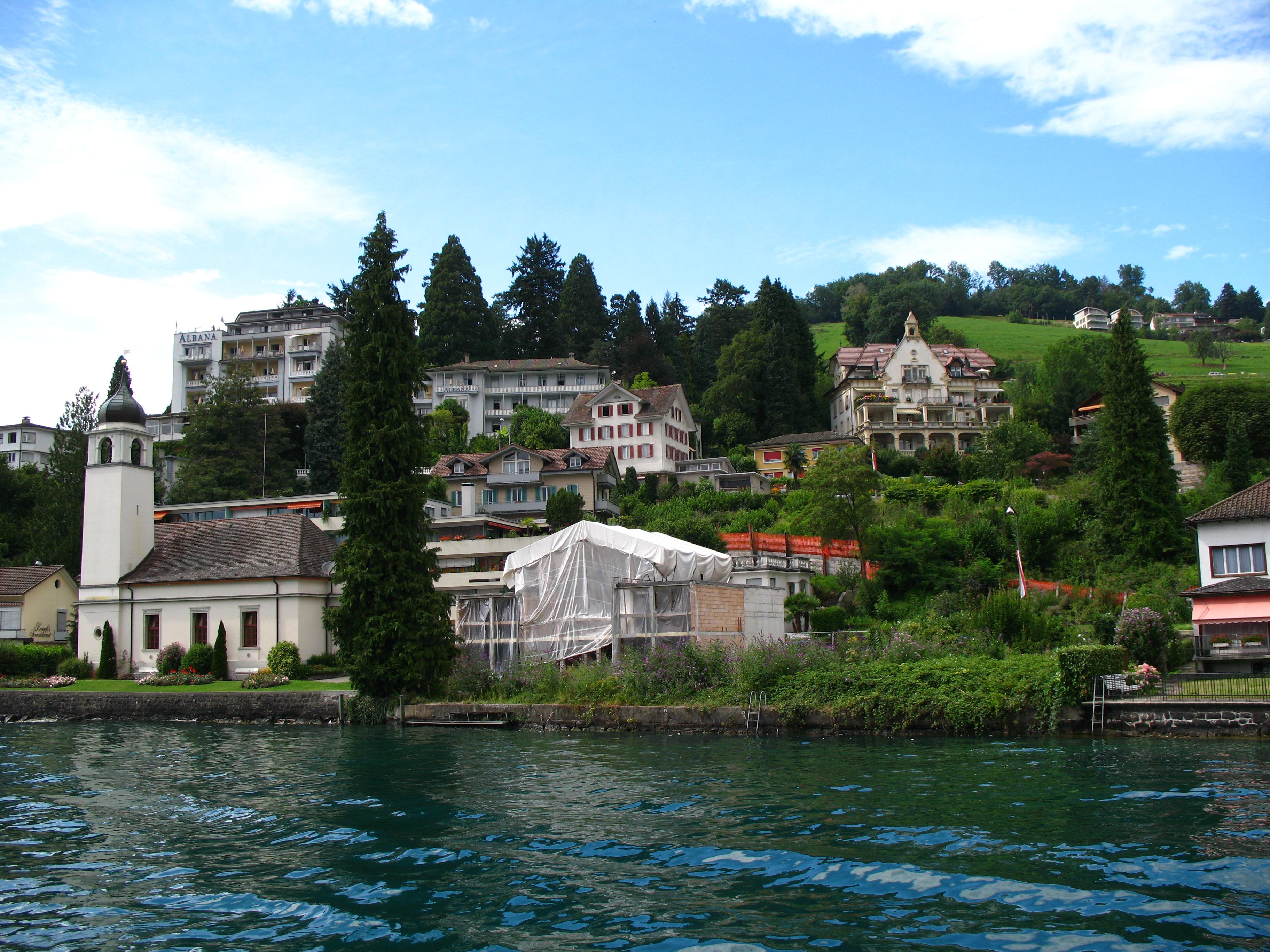 Weggis Switzerland  city photos gallery : 6596 Weggis Church Wikimedia Commons