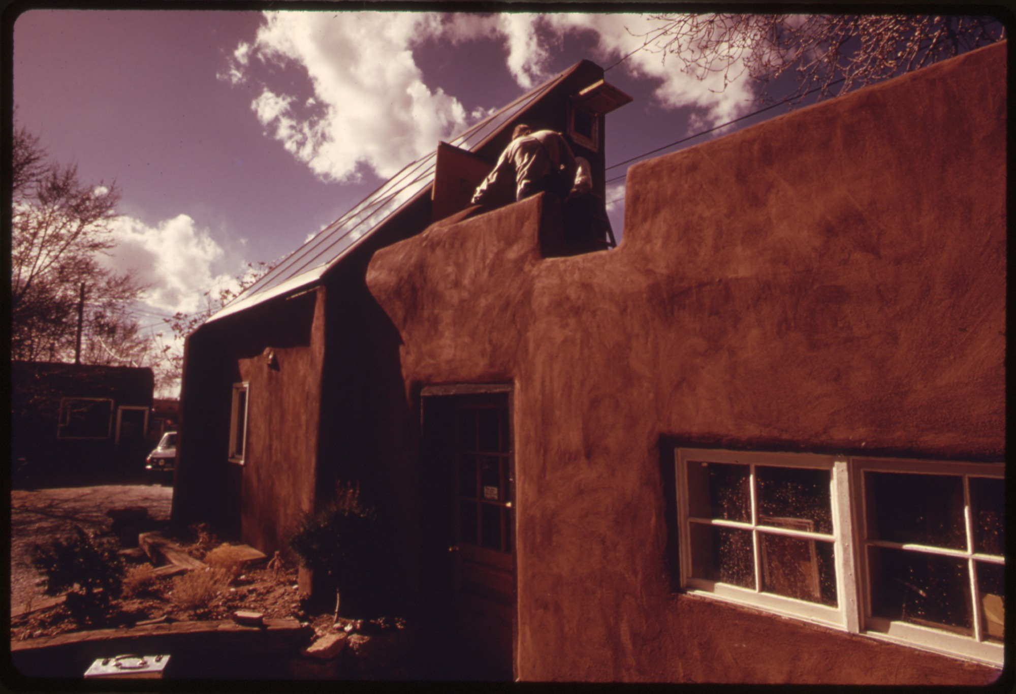 File An Adobe House In Santa Fe New Mexico Converted To