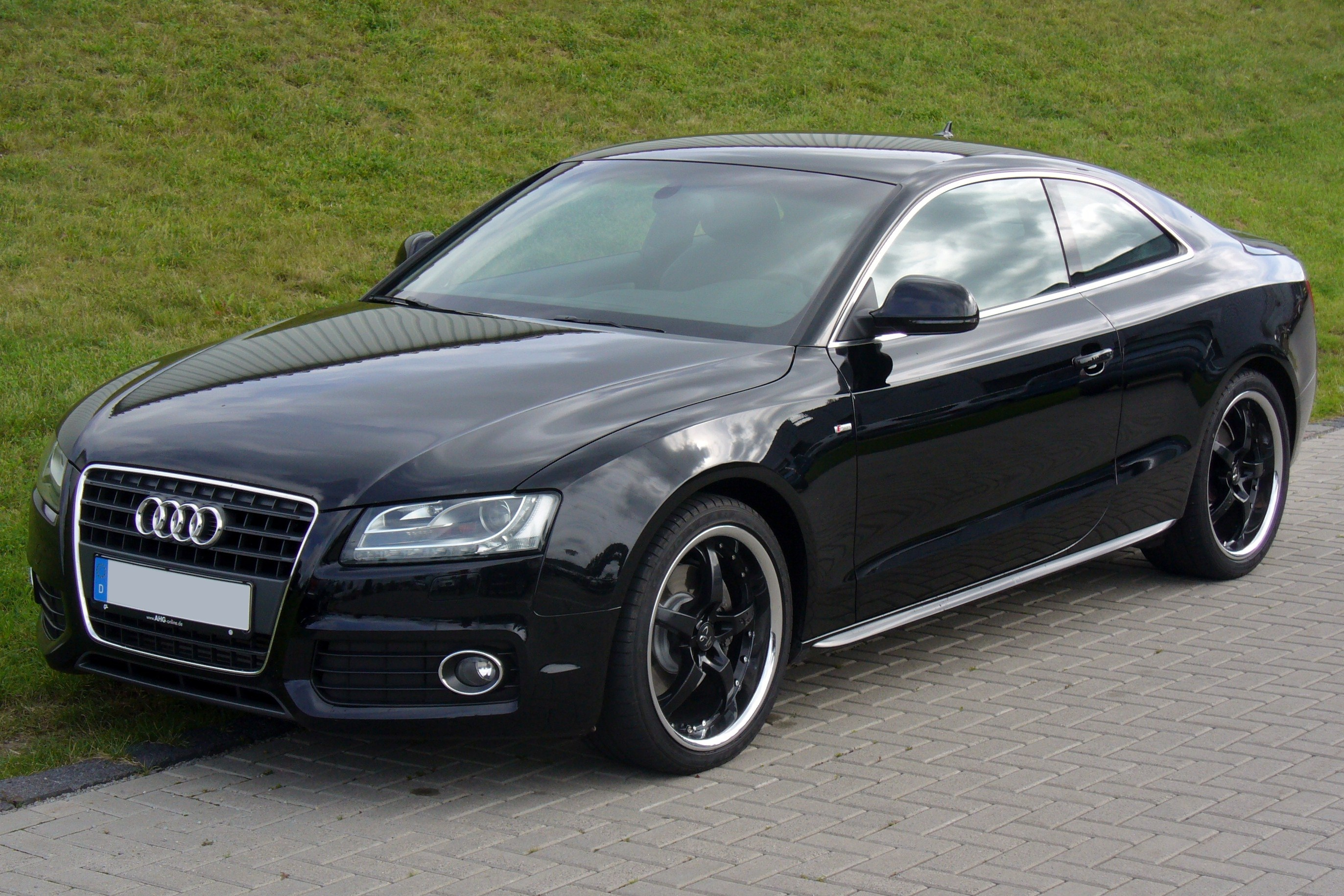 audi a5 coupe blacked out images galleries with a bite. Black Bedroom Furniture Sets. Home Design Ideas