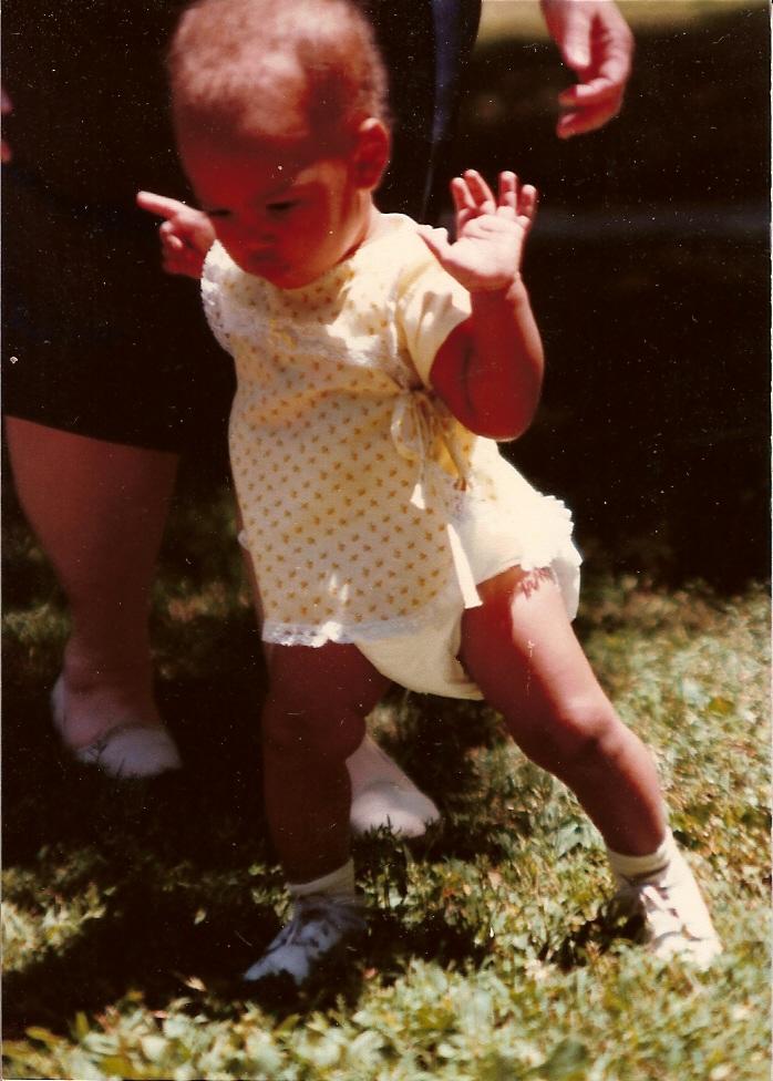 Walking Baby in Diapers