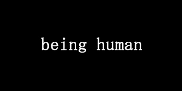 English: The title for Being Human.