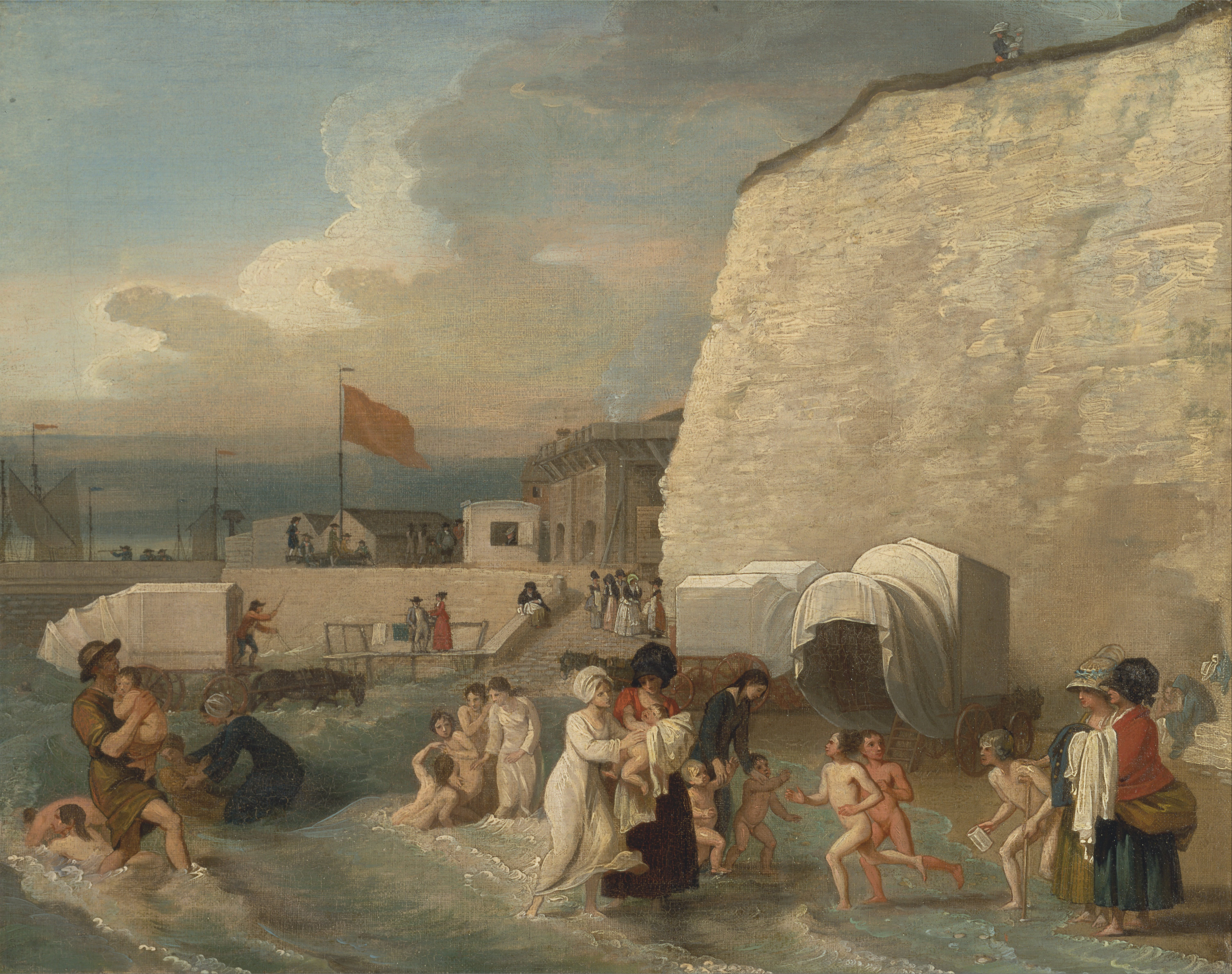 The Bathing Place at Ramsgate - Benjamin West