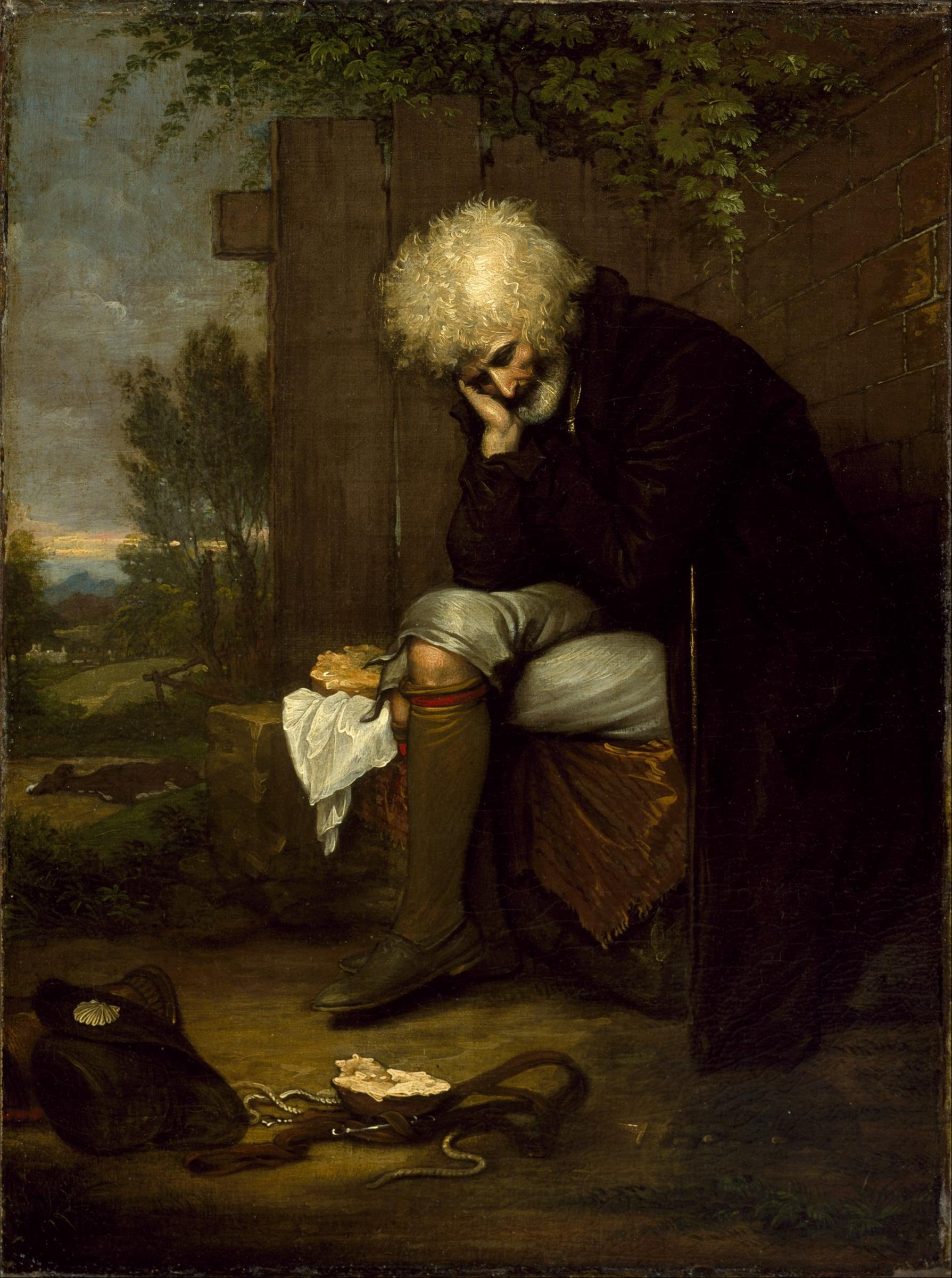 File:Benjamin West - The Pilgrim Mourning His Dead Ass - Google Art  Project.jpg - Wikimedia Commons