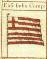 English: British East India Company flag from ...