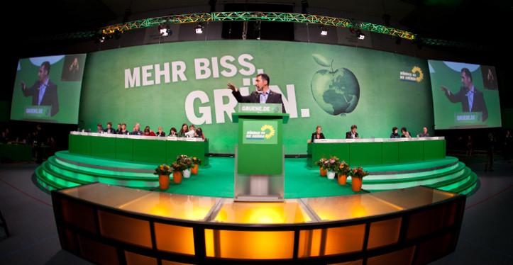 Cem Özdemit, Bundesvorsitzender von Bündnis 90/Die Grünen, bei der BDK14 in Hamburg