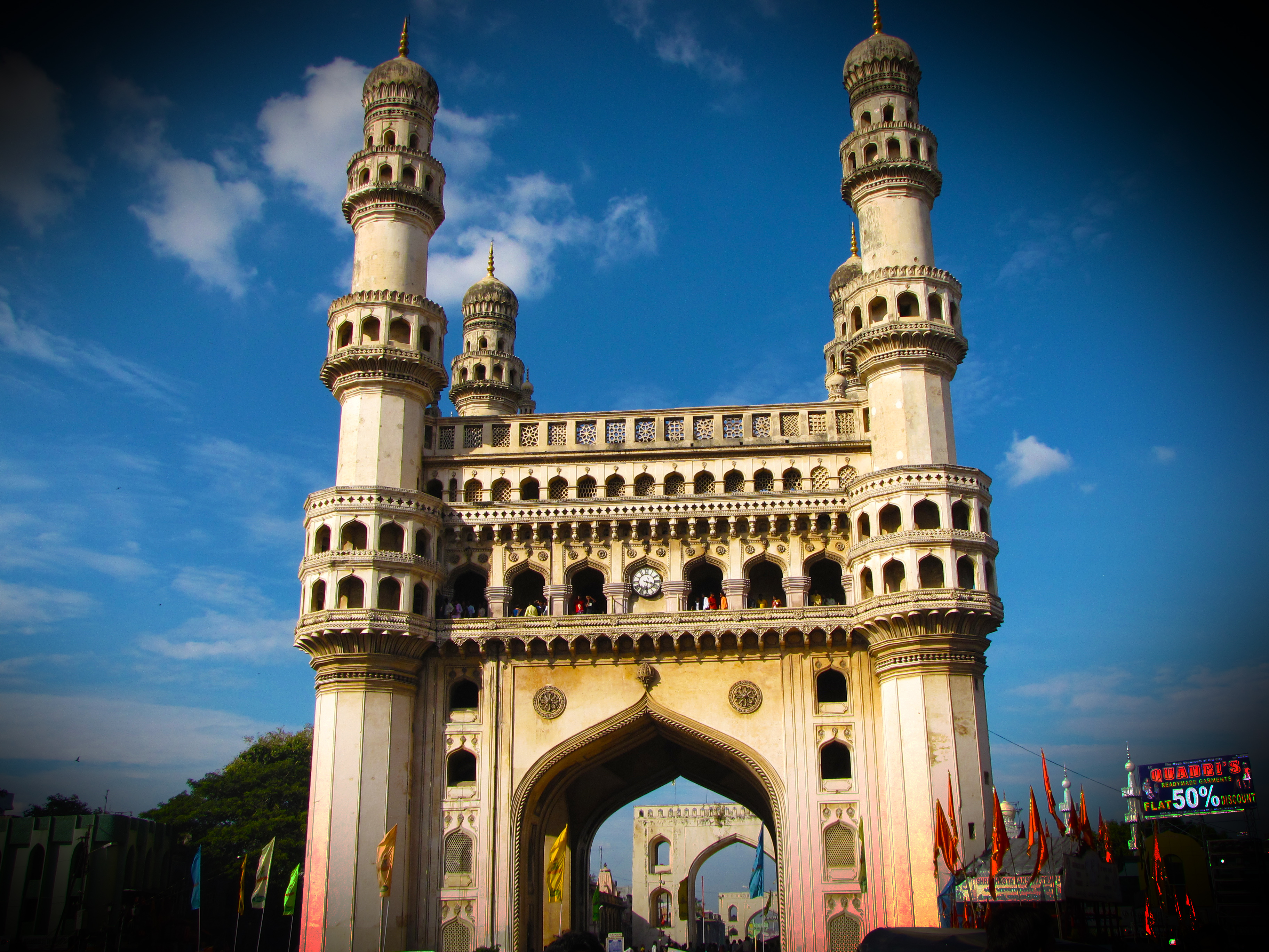 information about charminar 23 interesting facts about hyderabad with the height of 56m surrounded by 4 minarets or towers, the charminar is a must watch place in the city source, image.
