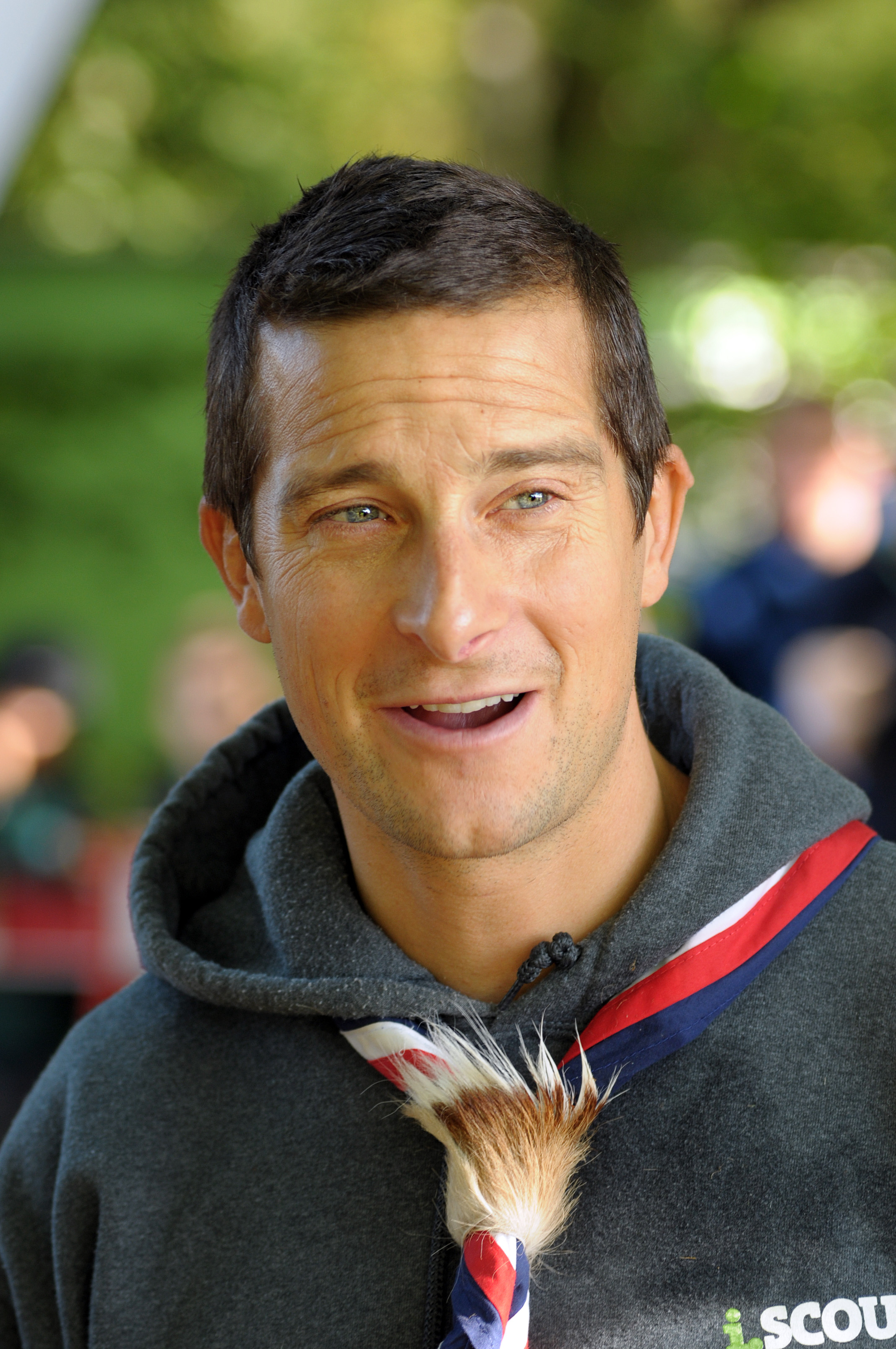 Bear Grylls meeting with Coventry Scouts groups, October 2012