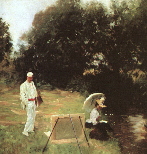 File:Dennis Miller Bunker Painting at Calcot.jpg