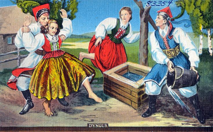 Dyngus postcard
