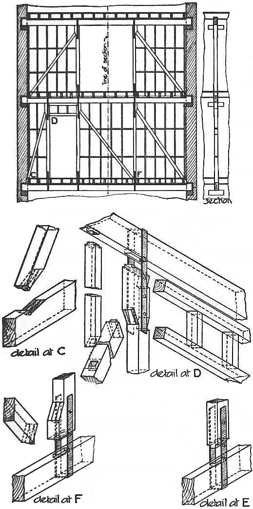 EB1911 Carpentry Fig. 32 - Queen Post Trussed Partition.jpg