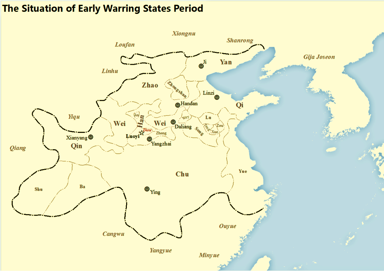 Warring states period wikipedia map showing states at the beginning of warring states period of zhou dynasty in chinese history gumiabroncs Images
