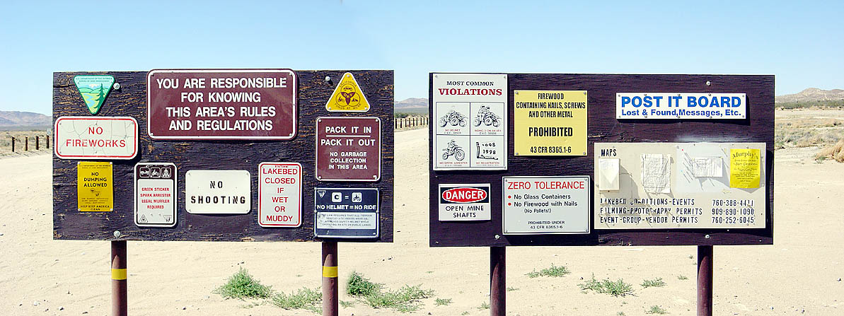 signs at the beach