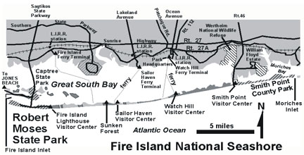 Fire Island National Seashore areas
