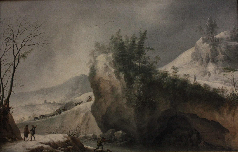 File Francesco Foschi Paysage De Neige Avec Rochers Et