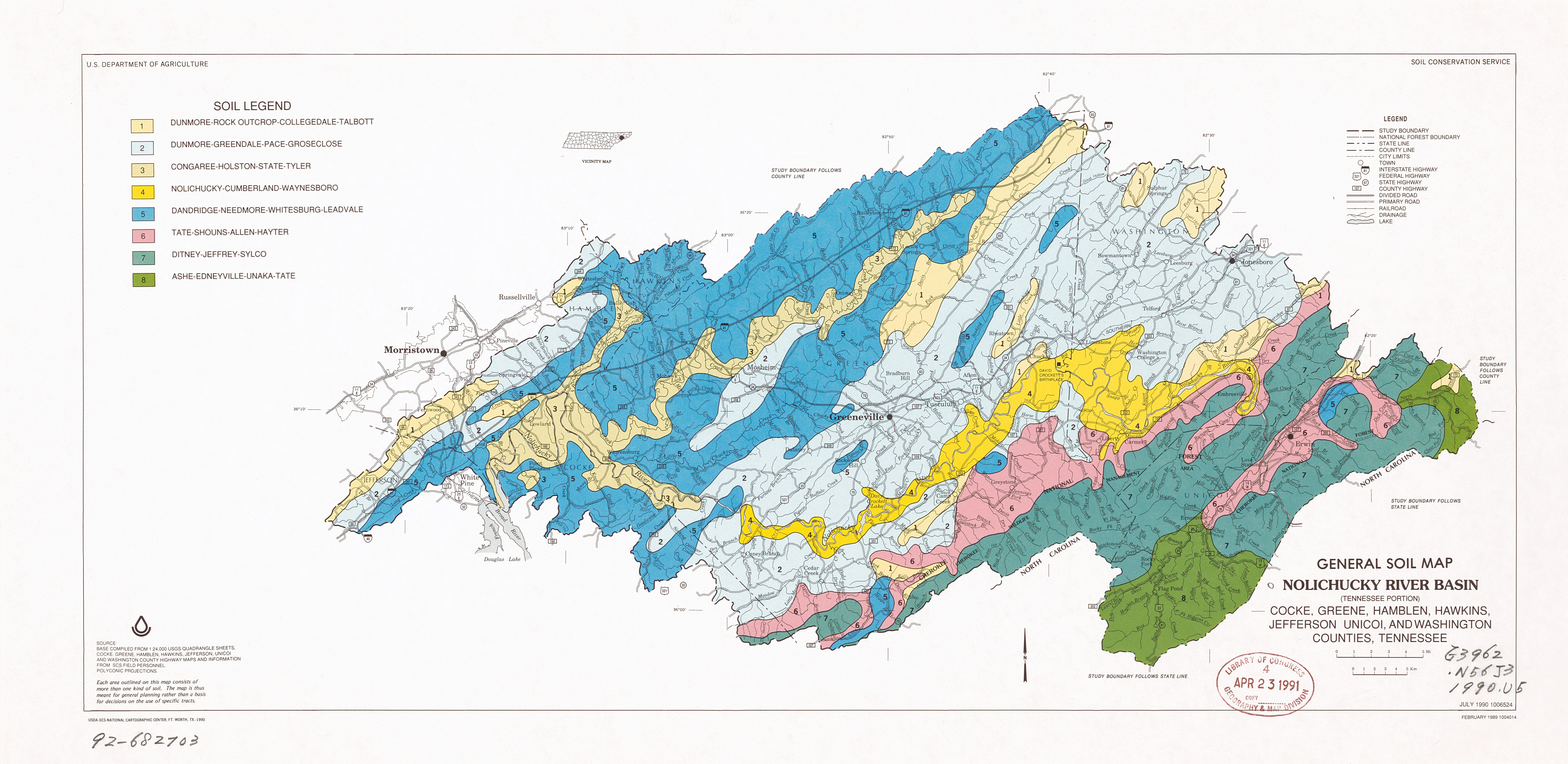File General Soil Map Nolichucky River Basin Tennessee Portion Cocke Greene Hamblen Hawkins Jefferson Unicoi And Washington Counties Tennessee Loc 92682703 Jpg Wikimedia Commons