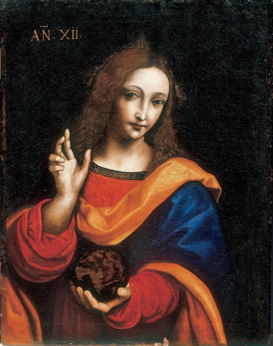 Leonardo Da Vinci Salvator Mundi Wikipedia >> File:Gian Giacomo Caprotti, detto il Salaì, Cristo giovanetto come Salvator Mundi, Museo Ideale ...