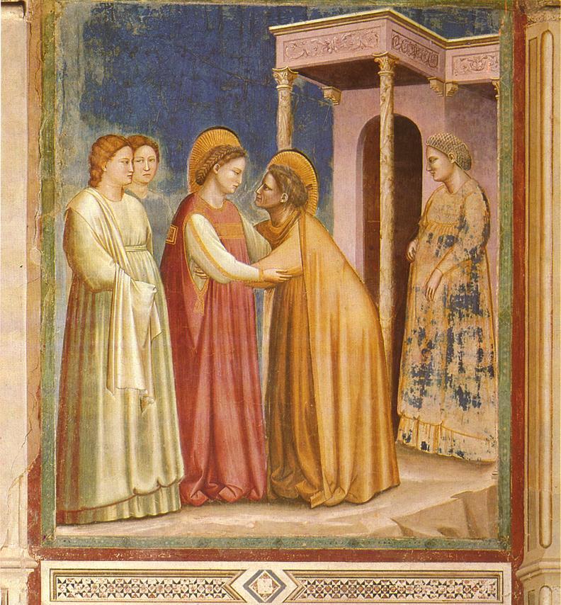Stampe religiose immagine San Giovanni Battista  figure sacre maternità