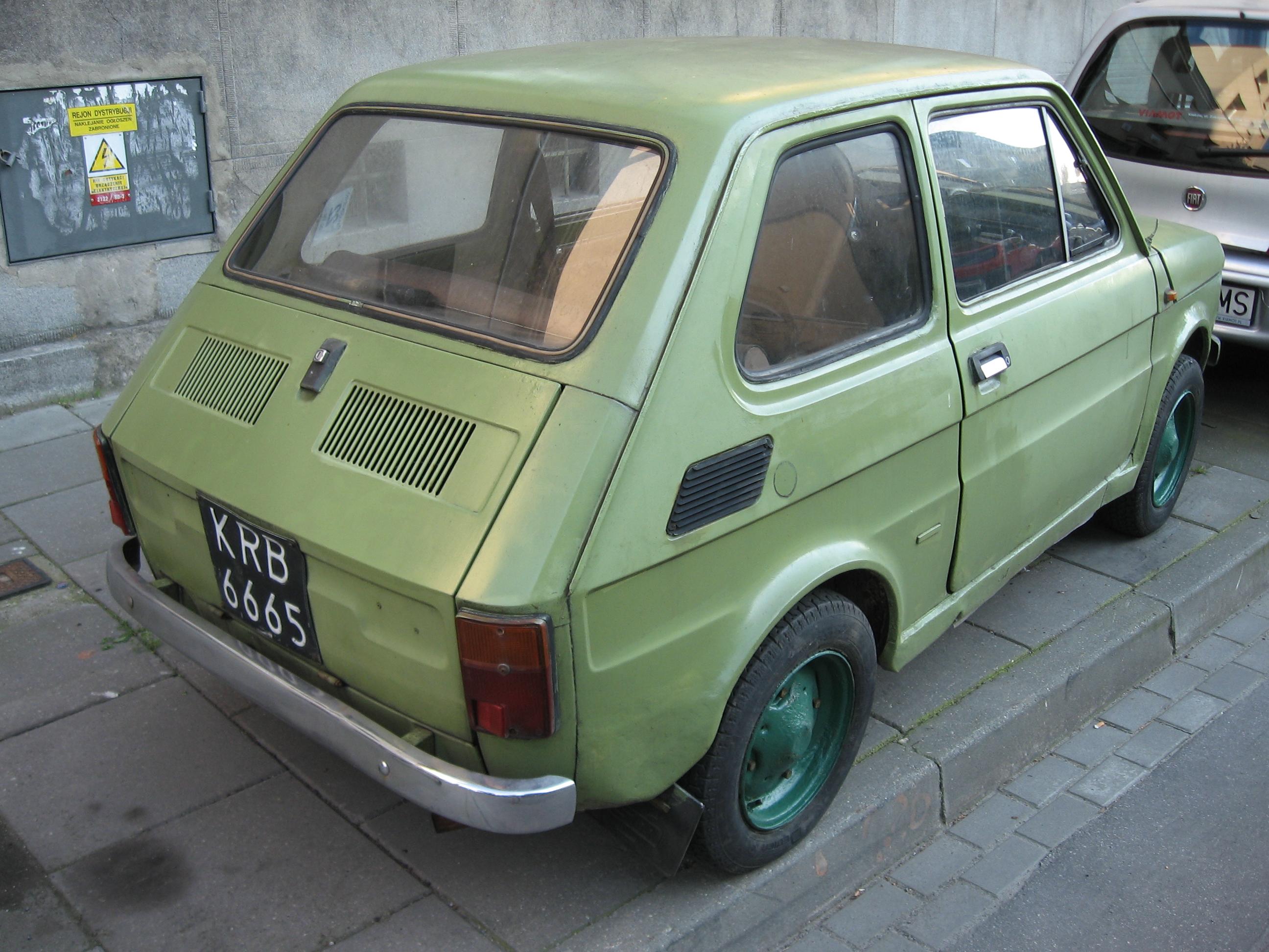 file green polski fiat 126p produced between 1973 and 1978. Black Bedroom Furniture Sets. Home Design Ideas