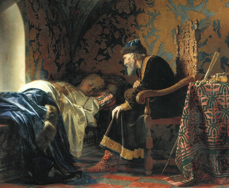https://upload.wikimedia.org/wikipedia/commons/f/f7/Grigory_Sedov_-_Ivan_the_Terrible_admiring_Vasilisa_Melentieva.jpg