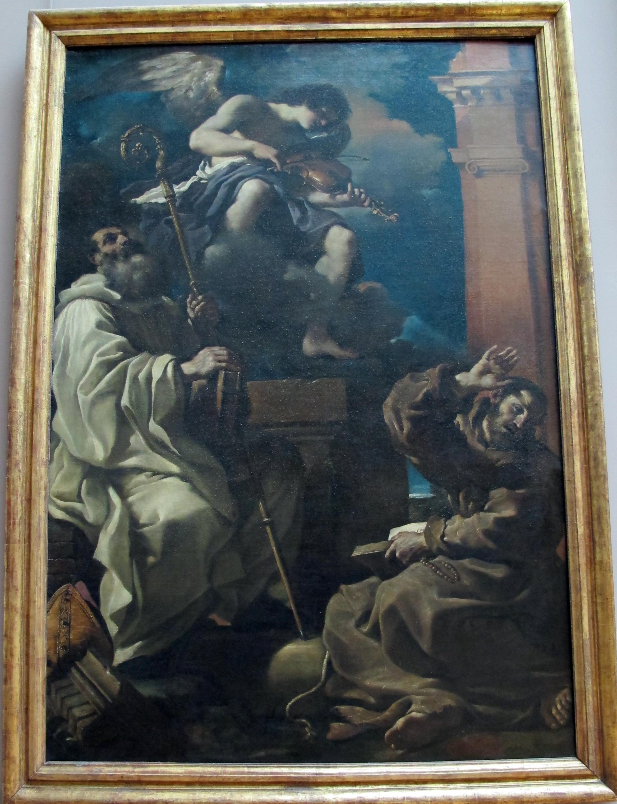 File Guercino San Francesco In Estasi Con San Benedetto E