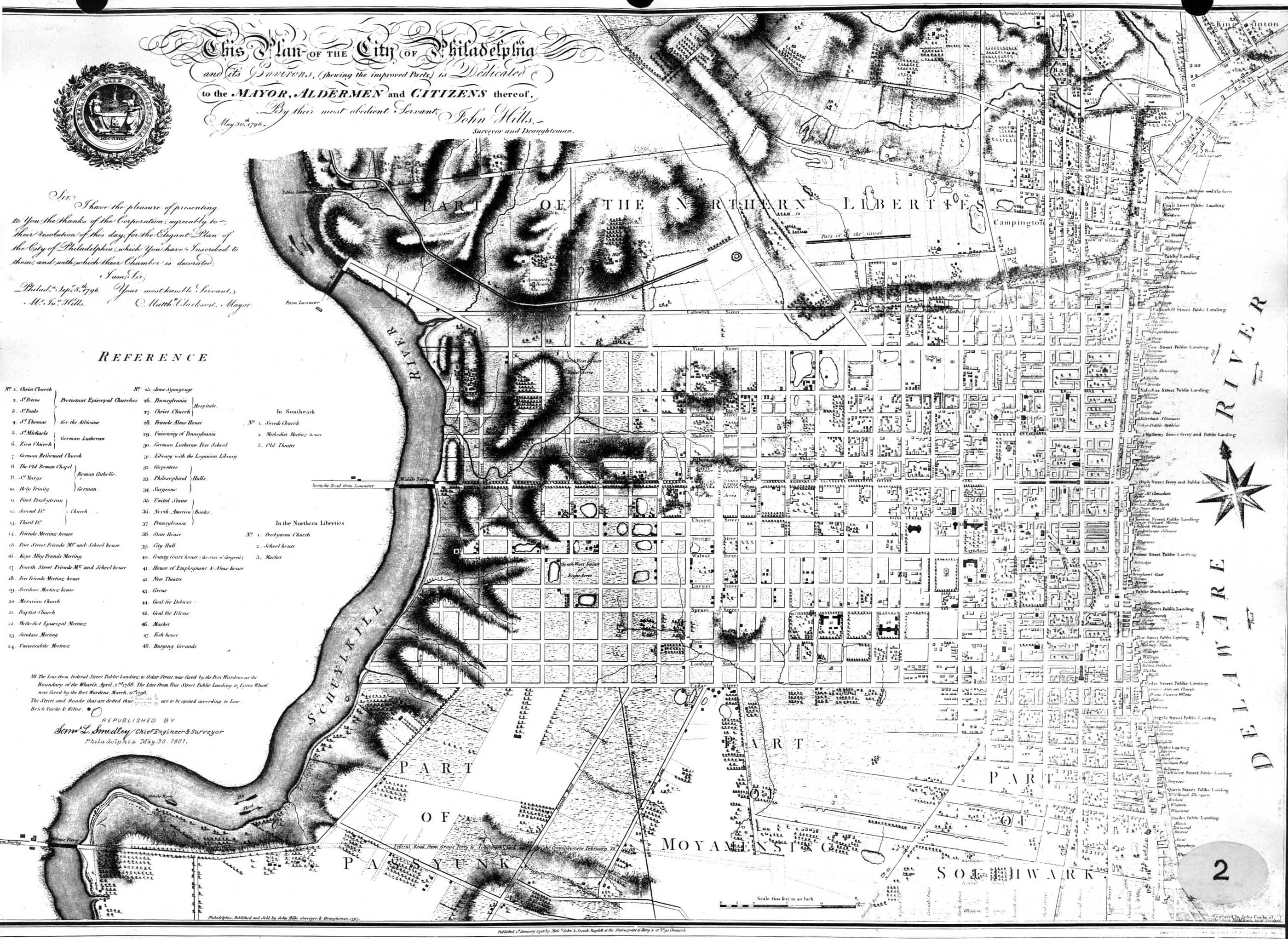 1786 map of Philadelphia