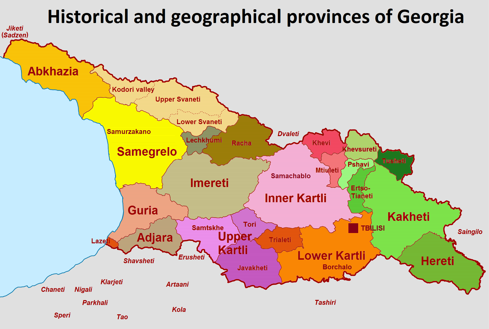 Country Of Georgia Map.Administrative Divisions Of Georgia Country Wikipedia