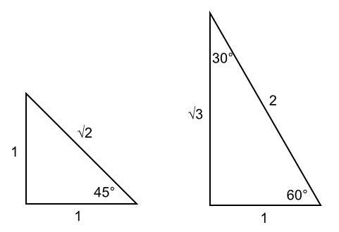 rechthoekige driehoek formules