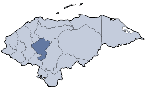 Location of Comayagua department
