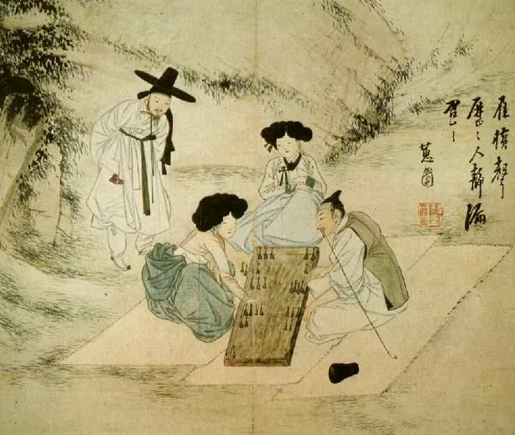 https://upload.wikimedia.org/wikipedia/commons/f/f7/Hyewon-Ssanguk.sammae.jpg Traditional