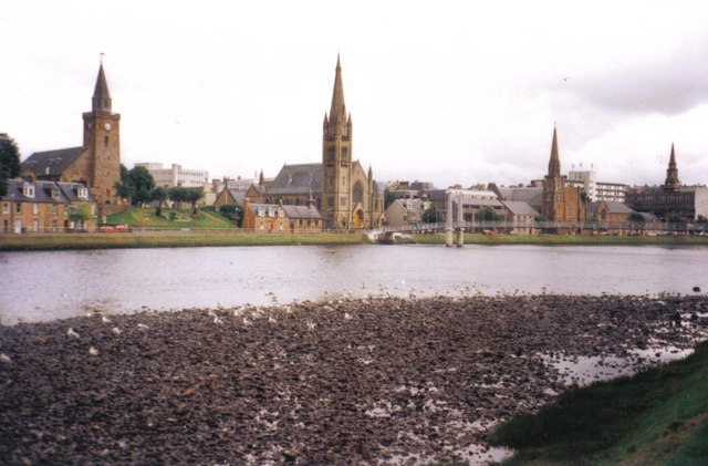 Inverness, four spires - geograph.org.uk - 449993