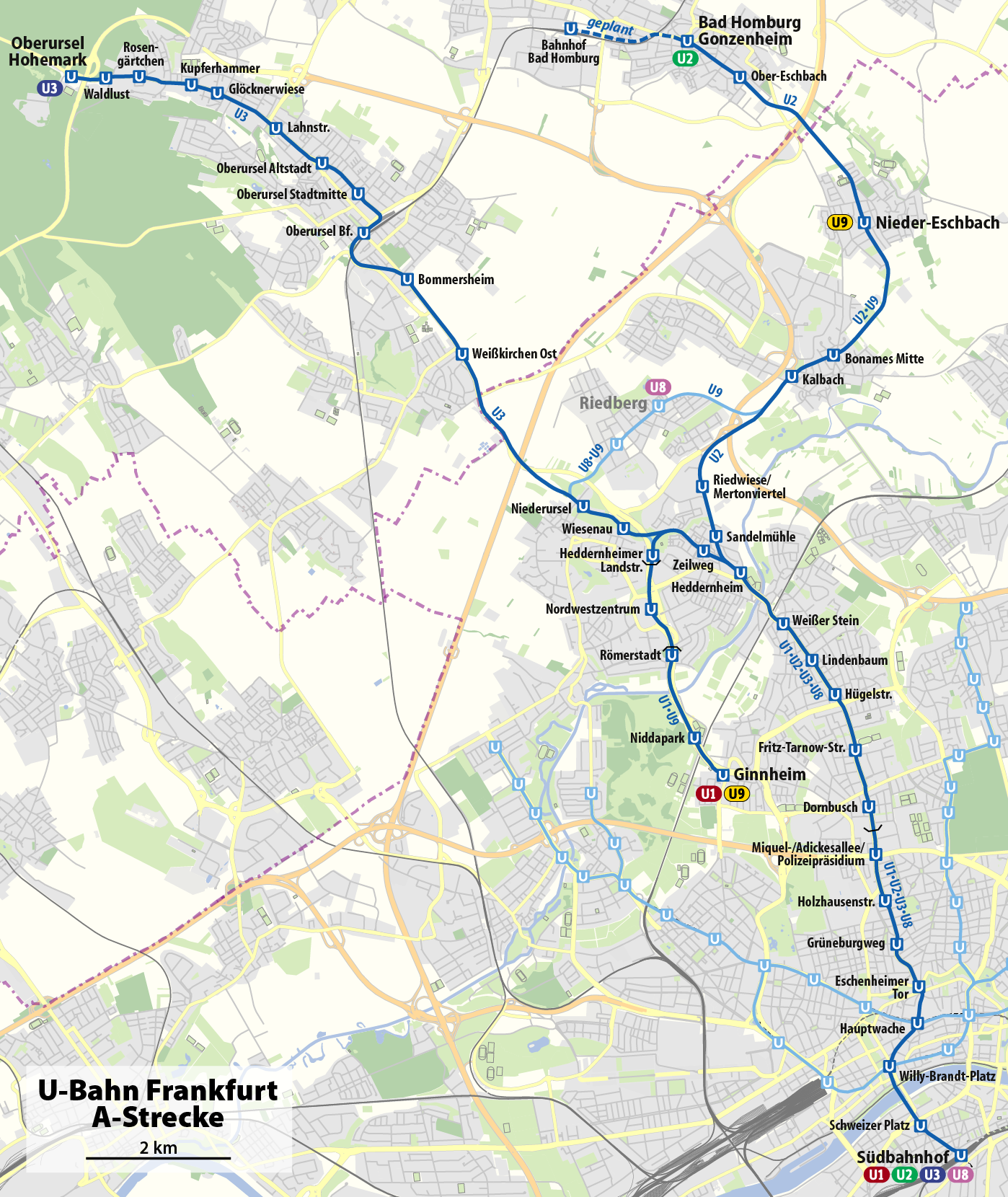 U-Bahn-Strecke A (Frankfurt Am Main)