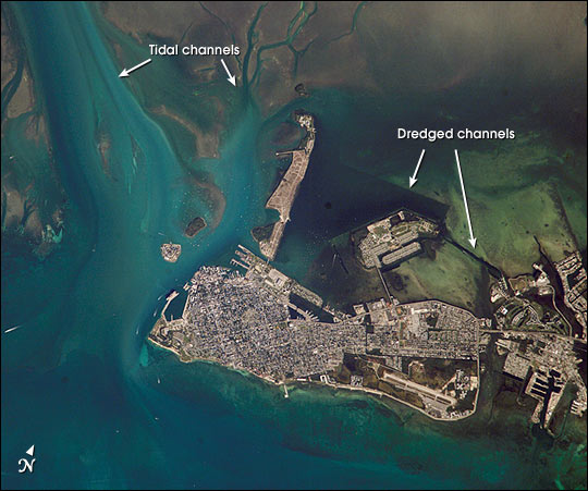 File:Key west from iss.jpg